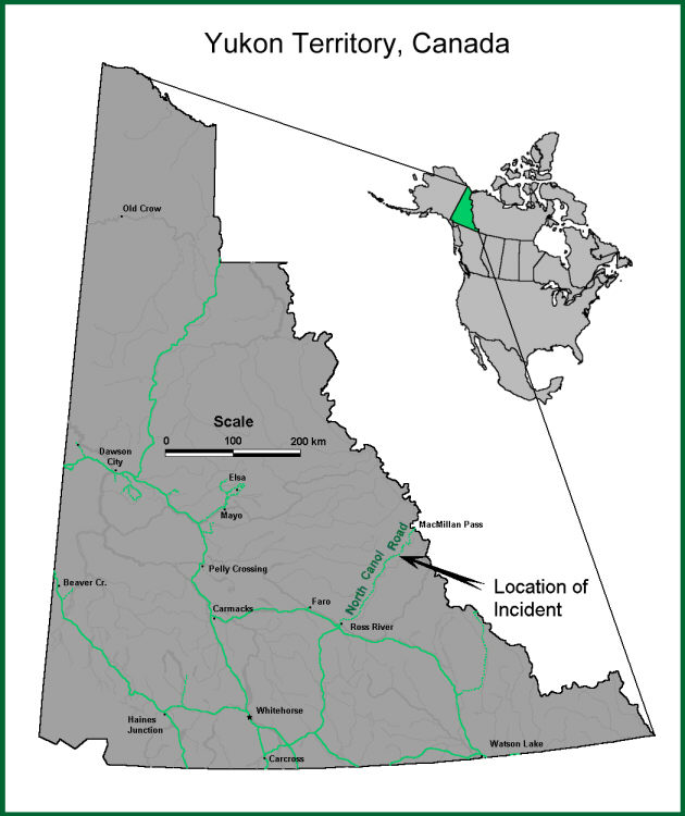 Map of Yukon Territory showing